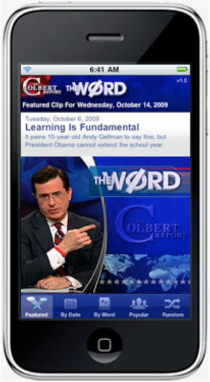 Colbert Report iPhone app