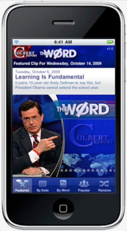 Colbert Report iPhone app